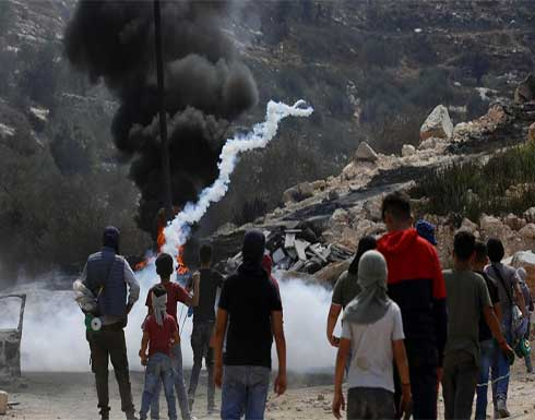 شاهد : استشهاد فلسطيني واصابة العشرات برصاص الاحتلال الإسرائيلي في نابلس