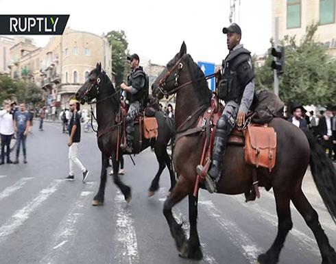 فيديو : اشتباكات بين يهود متشددين والشرطة الإسرائيلية في القدس