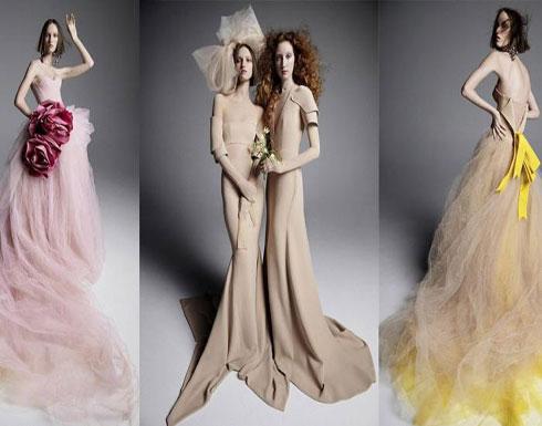 مجموعة زفاف فيرا وانغ لربيع 2019.. خالية من الأبيض ومناسبة للعروس البوهيمية