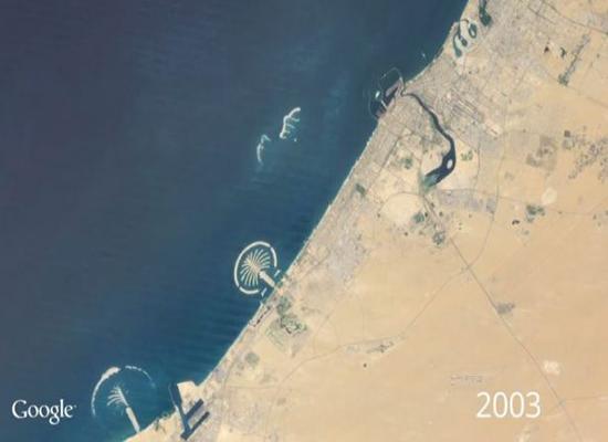 جوجل توفر تجربة مشاهدة تغيرات سطح الأرض عبر 32 سنة