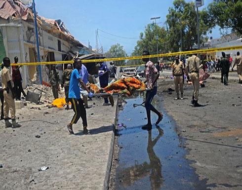 بالفيديو : إصابات في هجوم انتحاري على نقطة أمنية بمقديشو