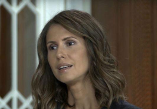 أسماء الأسد تكشف سبب بقائها في سوريا (فيديو)