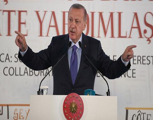 """أردوغان يهدد بـ""""سحق رؤوس"""" المقاتلين الأكراد حال عدم انسحابهم من شمال شرق سوريا في المدة المحددة"""