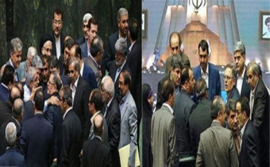 شاهد داخل البرلمان الإيراني.. احتجاجات ومشادات بسبب انهيار العملة لأدنى مستوى في تاريخها