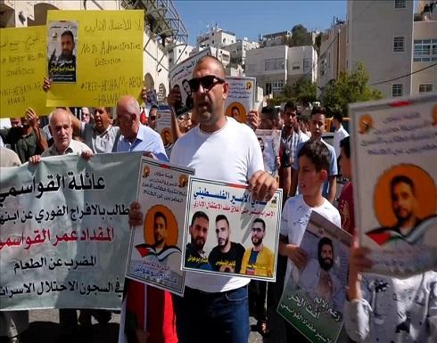 الضفة.. مئات الفلسطينيين يتضامنون مع الأسرى المضربين عن الطعام