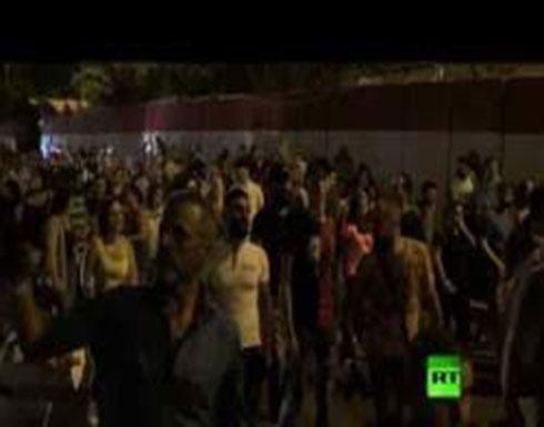 شاهد : احتجاجات في العاصمة اللبنانية وأنباء عن إطلاق نار