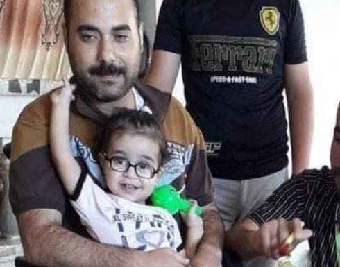 استشهاد فلسطيني من ذوي الإعاقة وطفلته وزوجته الحامل في غارة إسرائيلية .. بالفيديو