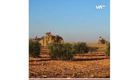 شاهد .. أول دورية مشتركة للجيشين التركي والأميركي في منبج