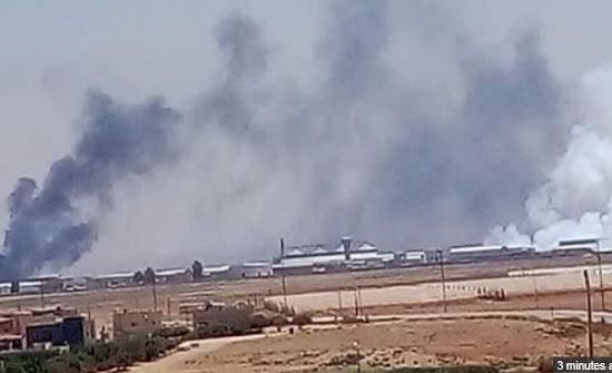 43 سورياً راجعوا المستشفيات نتيجة حريق مصنع الكبريت