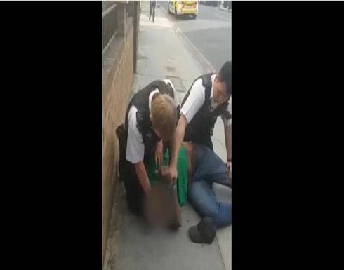 """""""حادث فلويد"""" يتكرر في لندن.. وفيديو يرصد الواقعة .. شاهد"""