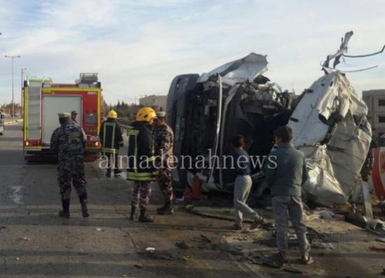 وفاة سائق صهريج بحادث تدهور في معان