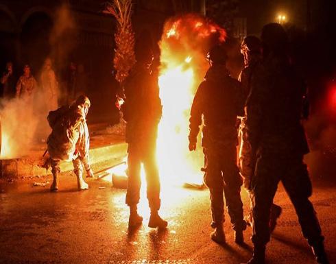 """احتجاجات في بيروت وطرابلس رفضا لـ""""إغلاق كورونا"""" .. بالفيديو"""