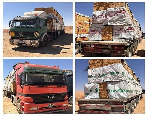 العراق يعيد شحنة خشب مخالفة للأردن