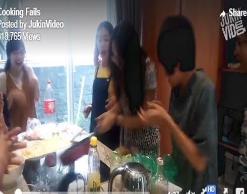 بالفيديو.. رد فعل أشخاص لحظة حدوث كوارث داخل المطبخ