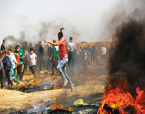 """غزة تشتعل قي جمعة """"عائدون رغم أنفك يا ترمب"""""""