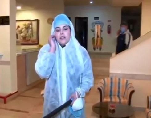 شاهد : صحفية تونسية تشتم مصابي كورونا