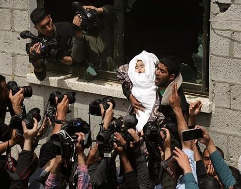 صور- غزة تشيع 5 جثامين من شهدائها بينهم رضيعة