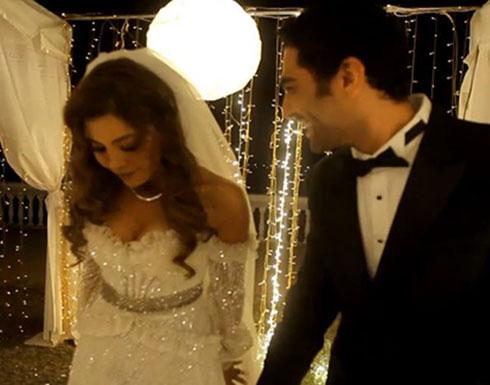 بالفيديو - ريهام حجاج بفستان الزفاف بلقطة لم تروها من قبل