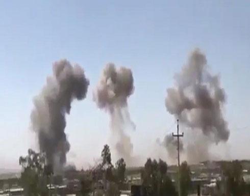 فيديو : قتلى بقصف إيراني على مقرات أحزاب بكردستان العراق