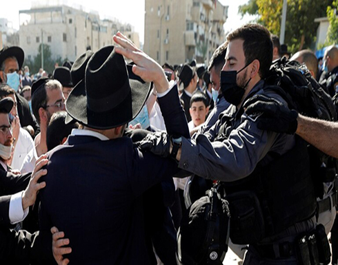 إصابة 5 رجال أمن إسرائيليين في اشتباكات مع اليهود الحريديم