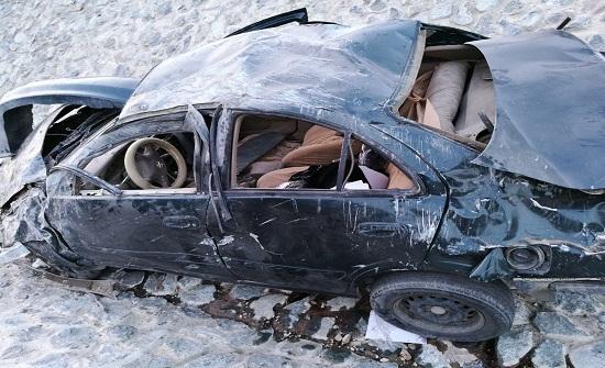 إصابة شخصين اصابات بالغة  اثر حادث تدهور على الطريق الصحراوي