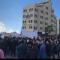 """آلاف الفلسطينيين يعتصمون في رام الله رفضا لـ """"الضمان الاجتماعي"""""""