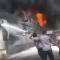 شاهد .. الحوثي يقصف مجمع صناعي بالحديدة