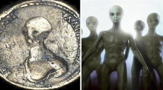 في اكتشاف جديد العثور على قطع نقدية تحمل صور المخلوقات الفضائية في مصر