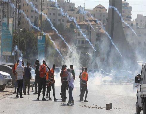 مواجهات بين فلسطينيين والجيش الإسرائيلي جنوبي الضفة الغربية