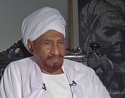 شاهد ..الصادق المهدي: العصيان المدني المفتوح من شأنه تصعيد الأمور في السودان