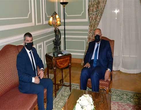 شكري يؤكد لوزير خارجية إسرائيل تمسك مصر بحل الدولتين