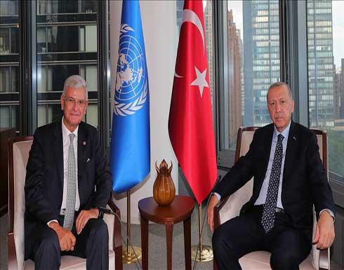 """نيويورك.. أردوغان يستقبل بوزكير في """"البيت التركي"""""""