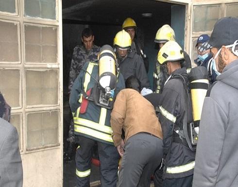 فيديو : ارتفاع عدد المصابين بحريق مدرسة في الرمثا الى 27