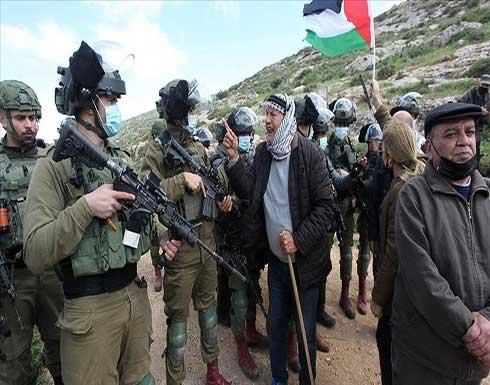 الجيش الإسرائيلي يفرق مظاهرة ضد الاستيطان بالضفة