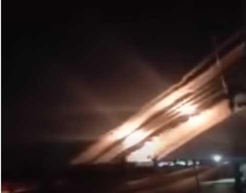 شاهد : أضخم ضربة صاروخية في تاريخ تل أبيب