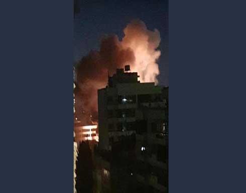 شاهد : حريق هائل يضرب محطة كهرباء في بيروت