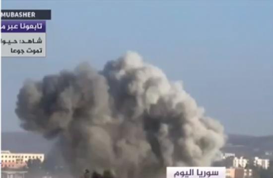 بالفيديو: إشتداد القصف الروسي على سوريا قبيل بدء سريان وقف اطلاق النار