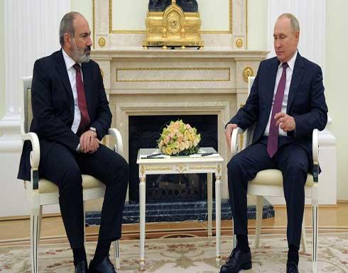 بوتين يبحث مع رئيس الوزراء الأرمني تطبيق نظام الهدنة في قره باغ