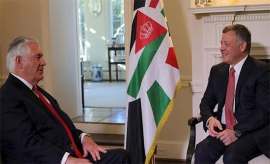 الملك يستقبل وزير الخارجية الأميركي
