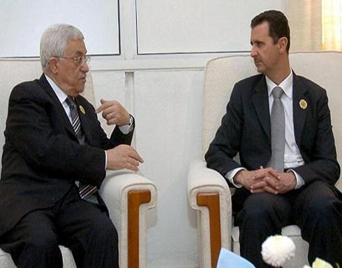 """محمود عباس يهنئ بشار الأسد """"بانتخابه"""" لولاية رئاسية جديدة"""