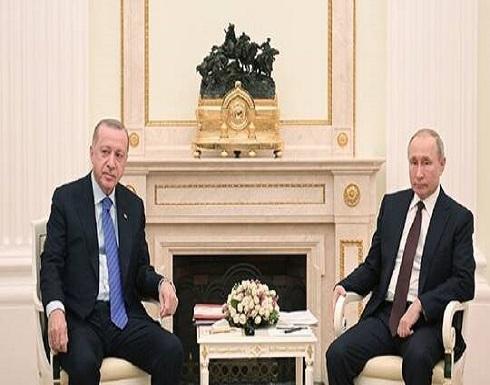 بوتين وأردوغان يبحثان الوضع في إدلب ويعبران عن قلقهما المشترك من تطور الأحداث في ليبيا