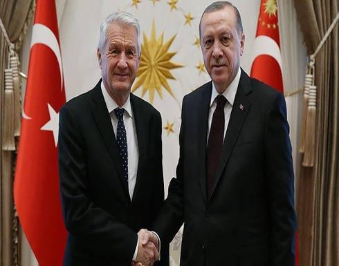 أردوغان يلتقي الأمين العام للمجلس الأوروبي