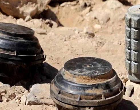 """صورة مؤلمة.. لغم حوثي يقتل مواطن مع """"حماره"""" في تعز ( شاهد )"""