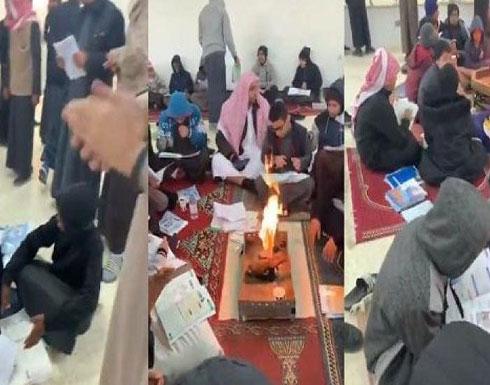 بالفيديو: معلمون سعوديون يوفرون أجواء آمنة من البرد للطلاب