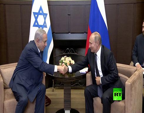 شاهد : لقاء بوتين ونتنياهو في سوتشي