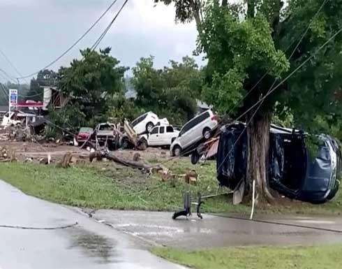 عشرات القتلى والمفقودين بسبب فيضانات كارثية في ولاية تينيسي الأمريكية