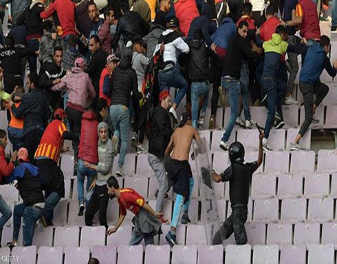 عشرات الإصابات إثر أعمال عنف في مباراة بتونس