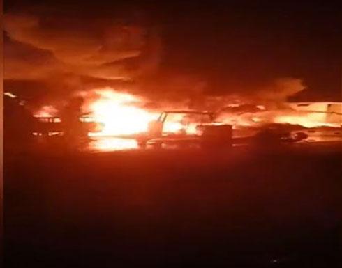 شاهد :  لحظة انفجار خط غاز بمدينة إيتاي البارود في مصر