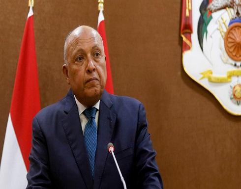 شكري: لا أطماع لمصر في ليبيا ونتطلع لانتخابات بنهاية العام