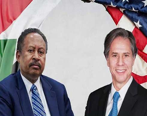 بلينكن يبحث مع حمدوك تطبيع العلاقات السودانية مع إسرائيل وعملية الإصلاح السياسي